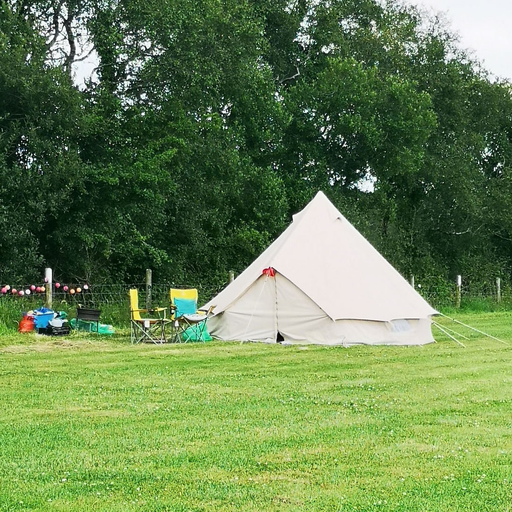 Bell Tent at Chelsfield Farm in Cornwall Holidays